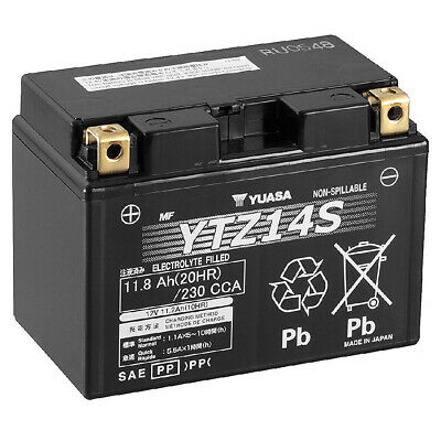 Genuine Yuasa YTZ14SHigh Performance AGM Motorcycle Battery Factory Activated • 99.95£