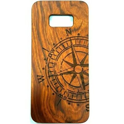 AU11.46 • Buy Compass Design Wood Case For Samsung S8
