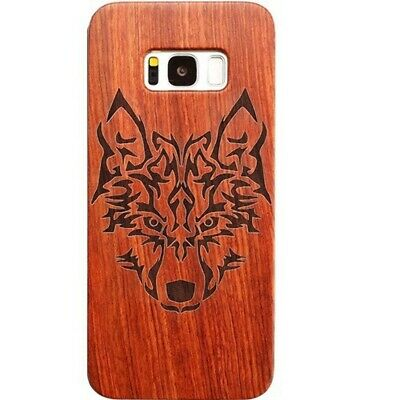 AU11.46 • Buy Wolf Design Wood Case For Samsung S8