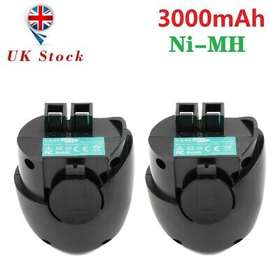 2X 4.8V 3AH Ni-MH Battery For Metabo Powergrip 2 Powergrip II Powermaxx 6.27271  • 22.95£