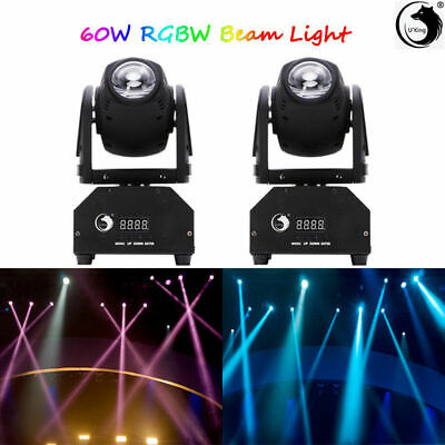U`King 2PCS 60W Gobo Disco  Stage Lighting RGBW LED Moving Head DMX DJ Club • 120.99£