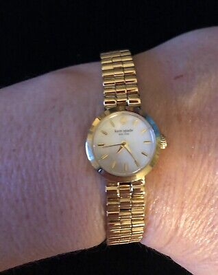 $ CDN124.07 • Buy EUC! Kate Spade Ladies Gold Stainless Steel Bracelet Dress Watch  - New Battery!
