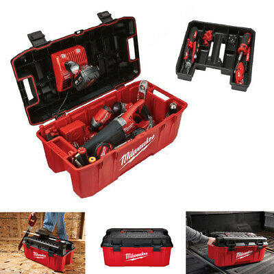 View Details Tool Box 26in Jobsite Work Lockable Lid Portable Tools Storage Transporting Box • 39.50$