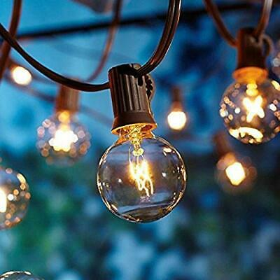 25ft (25 Clear Bulbs)Weatherproof Globe String Festoon Lights G40 Indoor Outdoor • 11.99£