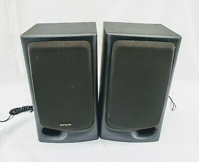 $59.95 • Buy AIWA SPEAKERS SX-N3200 PAIR Black Speakers - Good & Tested *FREE SHIPPING*