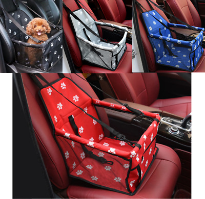 Folding Pet Dog Cat Car Seat Travel Carrier Puppy Handbag Side Bag Safety Basket • 6.99£