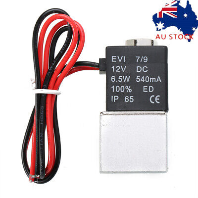AU16.28 • Buy 12V 2 Way 1/4  DC Electric Solenoid Air Valve Normally Closed Solenoid AirValve