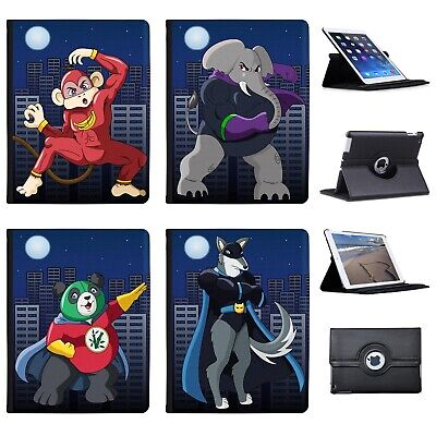 £11.99 • Buy Azzumo Superhero Action Hero Animals Faux Leather Case Cover For The Apple IPad