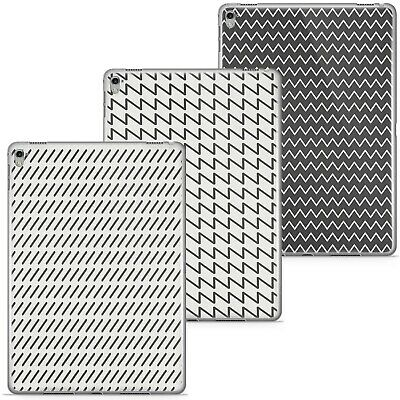 Azzumo Black & White Stripes & Patterns Thin Case Cover For The Apple IPad • 9.99£