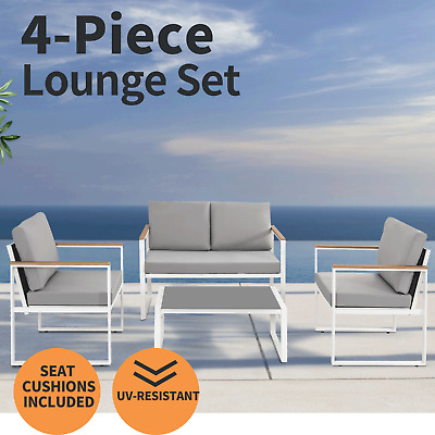 AU448.20 • Buy 4PC Outdoor Furniture Patio Arm Set Garden Table Chair Bistro