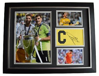 Iker Casillas Signed Framed Armband Photo Autograph 16x12 Display Real Madrid • 119.99£