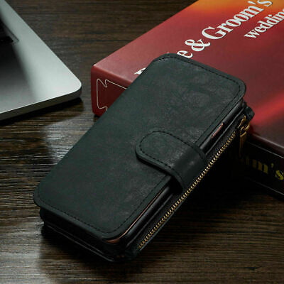 Phone Case IPhone 11 Pro Max  Zip Coin Purse Card Slot Flip Leather Wallet Cover • 13.99£