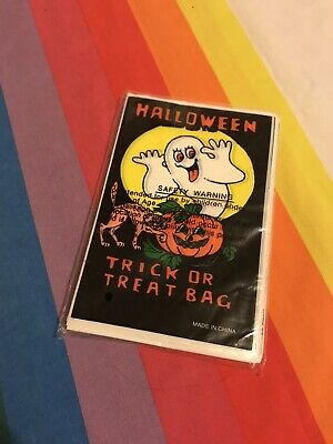 $ CDN8.99 • Buy Vintage Halloween Trick Or Treat Bags Candy Brand New In Package 100