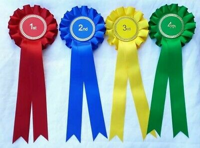 £2.80 • Buy 1st To 4th Place Rosettes, Horse Show, Dog Show Rosettes