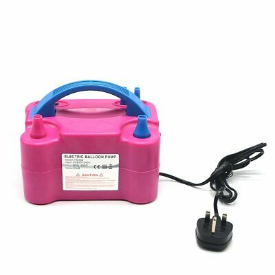 £19.89 • Buy Portable 600W Electric Balloon Pump Inflator Air Blower 2 Nozzles Party UK Plug