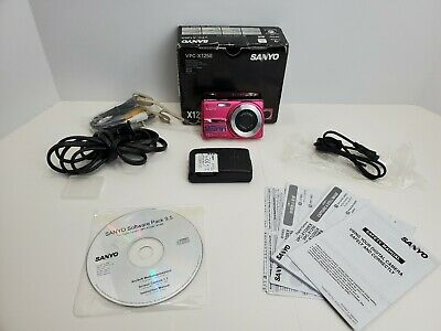 $18.99 • Buy Sanyo VPC X1250 12.0MP Digital Camera - Pink FOR PARTS