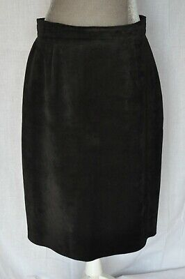 $ CDN32.94 • Buy Danier Suede Leather Skirt Size 16 Womens Black Back Slit Canada Made