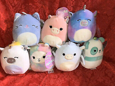 "$ CDN87.22 • Buy Lot Of 7 Squishmallows Plush 5"" Squishy Soft Pillow Toys NWT Kittencorn Dragon"