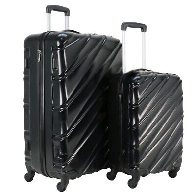 Swiss Case 4 Wheel Spinner Wave 2Pc Strong ABS Suitcase / Luggage Set • 68.99£