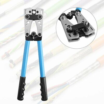 6-50mm² Terminal Battery Cable Lug Plug Crimper Crimping Hand Tool Plier Durable • 19.99£