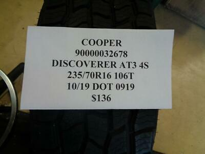$ CDN130.41 • Buy 1 New Cooper Discoverer At3 4s 235 70 16 106t Tire Wo Label90000032678 Q9