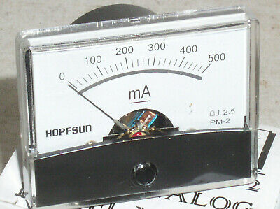 $16.29 • Buy New 500 Ma 500ma .5a Dc Milliamp Current Amp A Ammeter Analog Panel Meter Usa