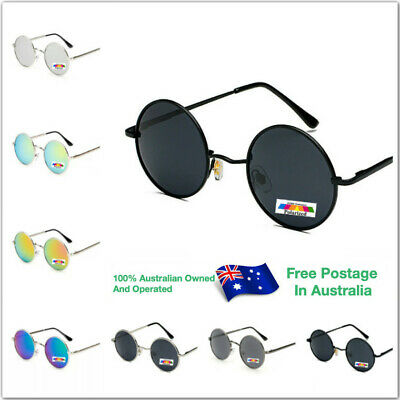 AU11.95 • Buy Mens Womens Vintage Polarized Glasses Eyewear Polarised Round Sunglasses R001