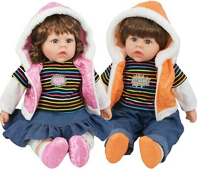 20  Large Toddler Baby Doll Lifelike Realistic Soft Bodied Girl / Boy Twin Dolls • 13.49£