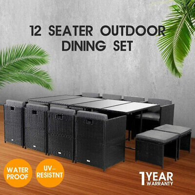 AU999 • Buy 13PC Bali Outdoor Dining Furniture Set Wicker Garden Table&Chair