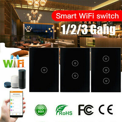 AU32.85 • Buy WIFI Smart Wall Light Touch Panel Switch App Timing Socket For Alexa Google Home