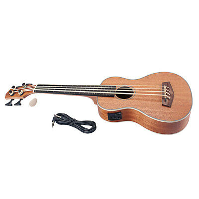 AU198.74 • Buy 30 Inch Electric Bass Ukulele Rosewood Body With 3m Cable Kits For Beginner