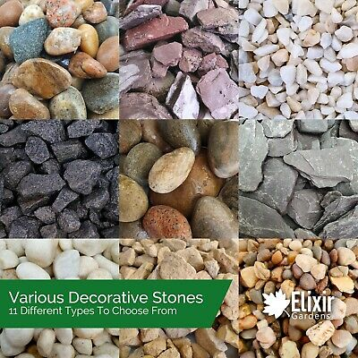 £8.99 • Buy Garden Flowerbed Rockery Patio Gravel Path Driveway Ground Cover Aggregate