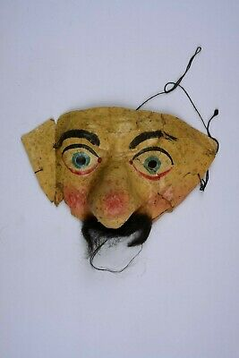 $ CDN52.49 • Buy Antique Vintage Halloween Costume Mask Hand Painted Marked GERMANY 1920's-30's