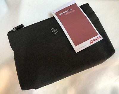 AU32.76 • Buy Branded SWISS AIR TOILETRY TRAVEL KIT SOFT CASE AMENITY ORGANIZER GRAY, NWT