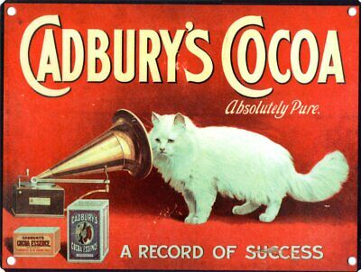 £13.75 • Buy Tin Sign Cadbury's Cocoa Absolutely Pure Red 40 X 30cm