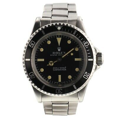 $ CDN18994.22 • Buy Rolex Submariner Vintage Pumpkin Steel Automatic Watch 5513 Service Papers 1969