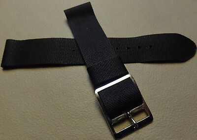 $8.99 • Buy New Mens Timex Classic Camper 19mm T18581 Black Nylon Watch Band Military Style