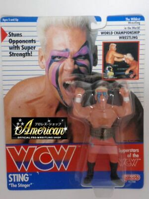$ CDN324.82 • Buy Hasbro WCW STING Orange Tights Version UK Card 1991 Galoob Wrestling Figure NEW