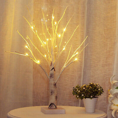 LED Christmas Birch Tree Light Up White Easter Twig Tree Hanging Eggs Home Decor • 17.80£