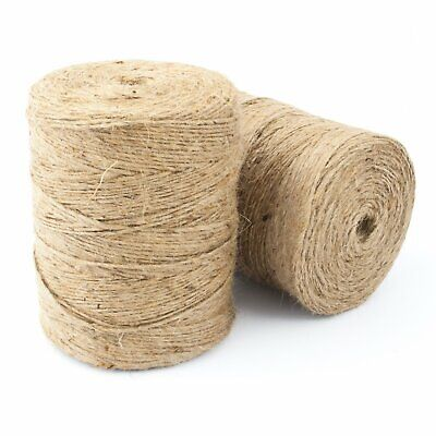 Natural Brown Soft Jute Twine Sisal String Rustic Shabby Cord 2Ply 1m-1000m • 2.18£