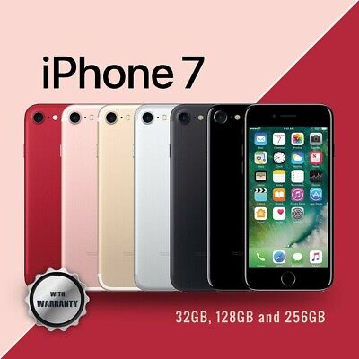 AU429 • Buy AS New Apple IPhone 7 32GB 128GB 256GB 100% Unlocked 4G Smartphone Warranty