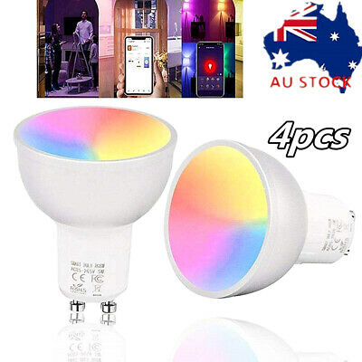AU66.24 • Buy 4X GU10 LED Bulb WiFi Smart Light App Remote Control Lamp For Alexa Google Home