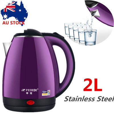AU29.86 • Buy Stainless Steel Cordless Electric Kettle Water Boiler Jug Coffee Tea Auto Off 2L