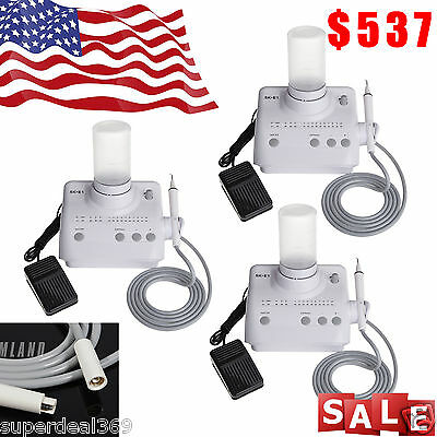 $537 • Buy 3*USA Dental Ultrasonic Piezo Scaler /Handpiece Fit EMS WOODPECKER Teeth Cleaner