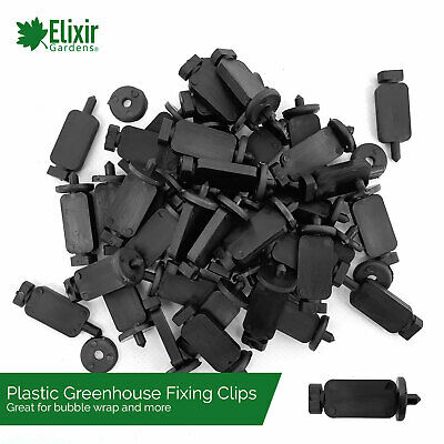 Greenhouse Bubble Insulation And Shade Plastic Secure Press Fixing Clips • 4.49£