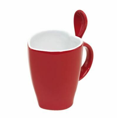 £5.90 • Buy Heart Shaped Coffee Mug & Spoon Cup Hot Valentine Day Love Present Gift Boxed