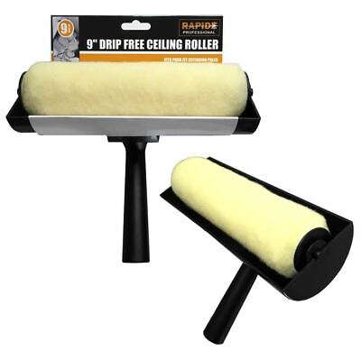 Large 9  Ceiling Anti Non Drip Painting Paint Decorating Roller Guard Brush Tool • 11.99£