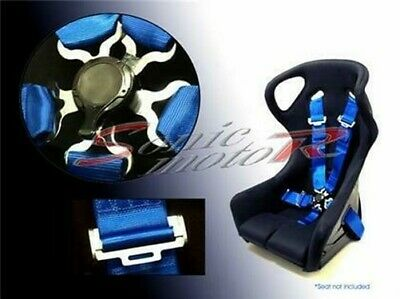 AU146.35 • Buy Sonic Motor 5 Point Racing Seat Belt Safety Harness With CamLock Cam Lock BLUE