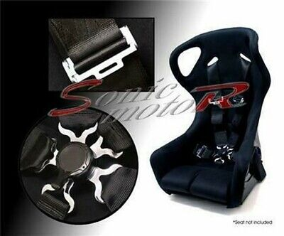 AU146.35 • Buy Sonic Motor 5 Point Racing Seat Belt Safety Harness With CamLock Cam Lock BLACK