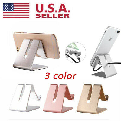 $5.59 • Buy Universal Aluminum Desk Stand Holder Cradle For IPhone Samsung Cell Phone Tablet